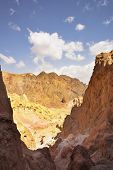 The well-known miracle of the world - Columns Amram in stone desert near Red sea poster