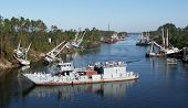foto of katrina  - In the Canal the attempts at salvaging the fishing fleet - JPG
