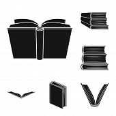 Vector Design Of Library And Textbook Sign. Collection Of Library And School Stock Symbol For Web. poster