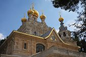 stock photo of church mary magdalene  - Church of Mary Magdalene in Jerusalem - JPG