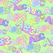 Abc Symbol Pattern. Kids Study Background. Abc Pattern. poster