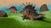 kentrosaurus in grassland