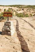 wavy desert rock trail
