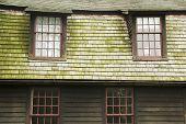historic village building windows