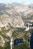 Liberty Cap, Nevada Falls and Vernal Falls