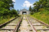 Allegheny Portage Railroad house and train tracks