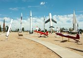 White Sands Missile Range Museum outdoor missle and rocket display