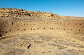 Casa Rinconada grand kiva, native american indian ruins