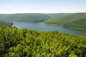 Allegheny National Forest and reservoir