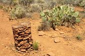 rock trail marker pile
