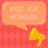 Handwriting Text Writing Boost Your Metabolism. Concept Meaning Speeding Up The Breakdown Of Food Ca poster