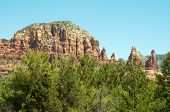 Sedona butte and rock towers