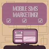 Text Sign Showing Mobile Sms Marketing. Conceptual Photo Campaign That Interact With Your Customers  poster