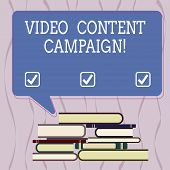 Conceptual Hand Writing Showing Video Content Campaign. Business Photo Text Integrates Engaging Vide poster