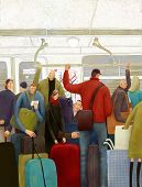 In moscow subway, illustration