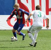 MOSCOW - MAY 10: CSKA's Milos Krasic (L) in action during their team's Russian football championship