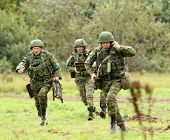KOSTROMA REGION - AUGUST 26: Paratroopers-saboteurs on the Command post exercises with 98-th Guards