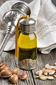 Bottle Of Argan Oil And Fruits