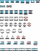 Icon Set Of Washing Symbols / Vector