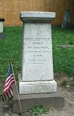 stock photo of paul revere  - Grave site of Paul Revere in Boston Massachusetts - JPG