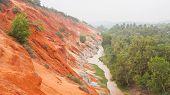 Ham Tien Canyon In Vietnam, Covert In Fog