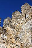 Detail of the Saint George's Castle at Lisbon, Portugal