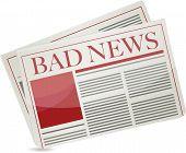 Bad News Newspaper Illustration Design