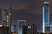 Ramat Gan City At Night.