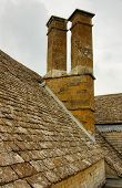 Roof On The Medieval Castle In England In Summer Day poster