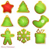 Vector set of christmas elements .