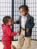 Two Little Boys Playing