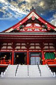 TOKYO, JAPAN - MARCH 30: Sensoji Temple in Tokyo, Japan on March 30, 2012. It is the oldest temple i