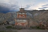 Ancient buddhist stupa in Inner Dolpo, Nepal