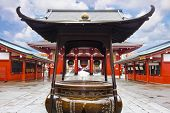 An incense burner at Sensoji Asakusa Temple