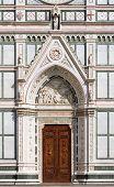 Entrance of Basilica of Santa Croce, Florence, Italy