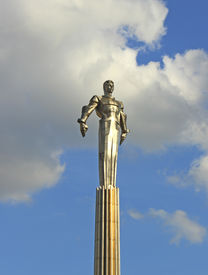 image of yuri  - Monument to Yuri Gagarin, first man in outer space.
