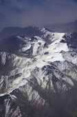 pic of karakoram  - aerial view of Karakoram mountains of Sinkiang China you can see frozen peaks and deep valley - JPG