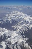 Aerial View Of Karakoram Mountains Of Sinkiang, China