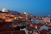 Lisbon City Lights Panoramic Alfama View