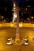 Flaminy obelisk on Popolo Square (People's Square)