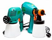 two different construction electrical spray gun for pulverization of color