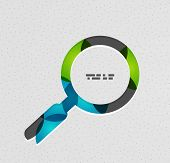 Search magnifying glass vector concept