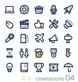 Universal icons set Perfect lines 04