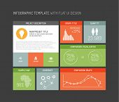 Vector flat user interface (UI) infographic template / design - dark version