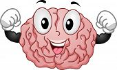 Illustration of Strong Brain Mascot