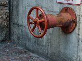 Rusty Old Fire Sprinkler Valve