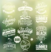 stock photo of nostalgic  - Vintage Retro Elements For Summer Calligraphic Designs - JPG