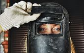 Woman in Welder