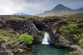 Waterfall in the Cuillin Mountains, Isle of Skye , Scotland