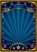 stock photo of cabaret  - blue and gold background - JPG